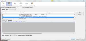 Netbeans Code template window