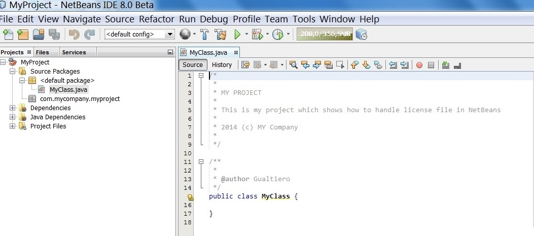what is a template in java - tutorial license headers in netbeans gualtiero testa