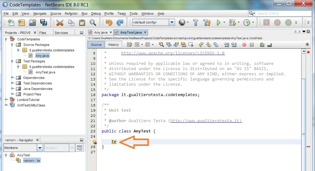 Tutorial: how to create a JUnit test method template in NetBeans ...